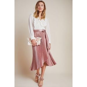 ANTHROPOLOGIE ✨NWT Paulina Pleated Wrap Midi Skirt